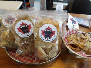 Delicious cripsy taro chips at Fat Ninja Bite