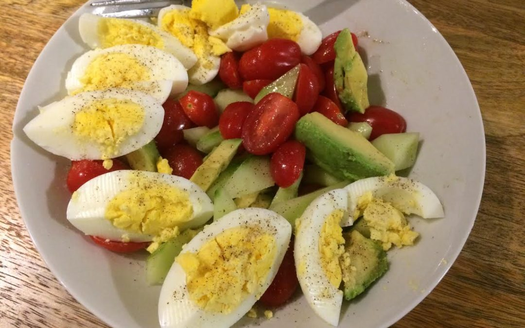 Cucumber, Tomatoes, Avocado Salad