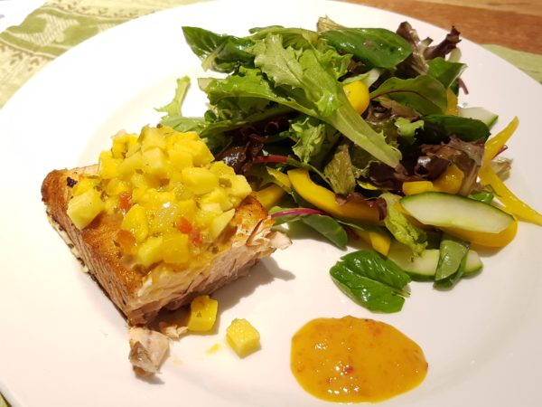 Pan-Seared Salmon with Mango Salsa