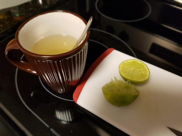 Honey Lime drink with Angostura Caribbean Rum - home remedy for sore throat