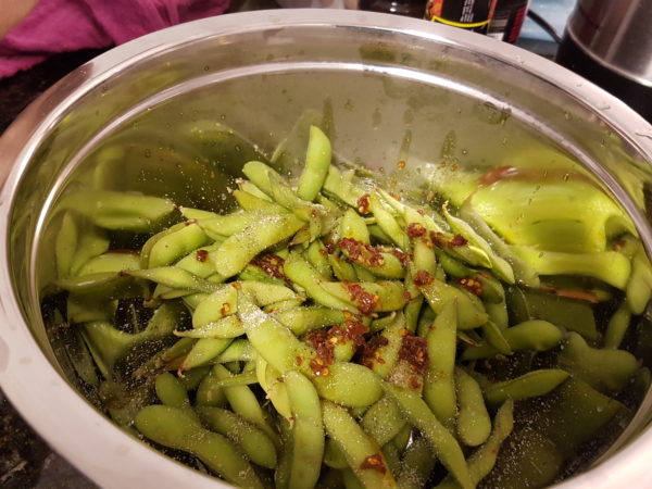 Chili and Lime Edamame ready to serve!