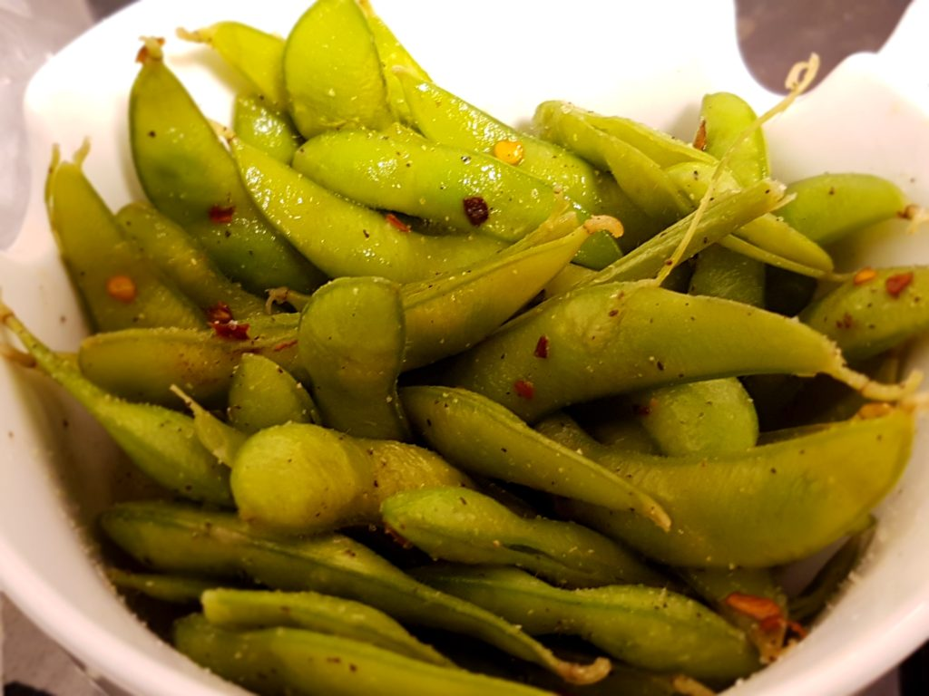 Chili and Lime Edamame - ready in less than 5 minutes