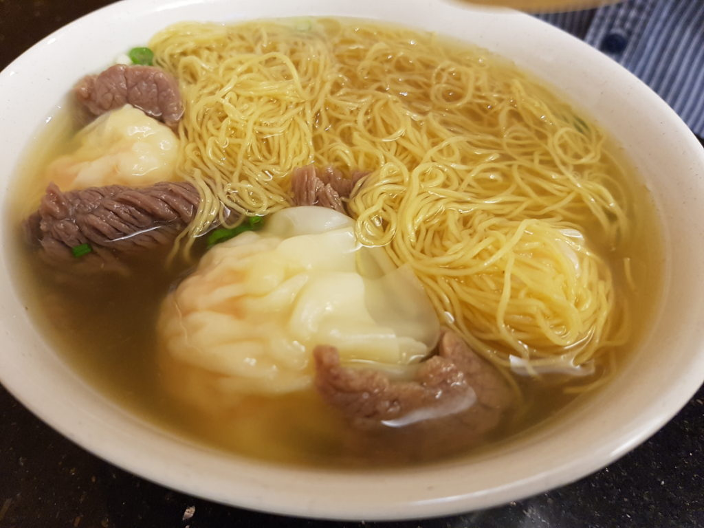 Jim Chai Kee A5 - Wonton and Beef Egg Noodle Soup
