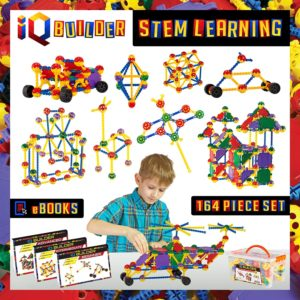 IQ Builder -Fun Educational Building Toy Set for Boys and Girls Ages 3-10
