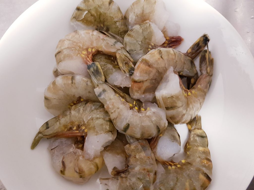 Frozen Shrimp used in making Garlic Pepper Shrimp