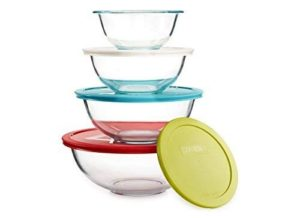 Round Glass Pyrex Bowls