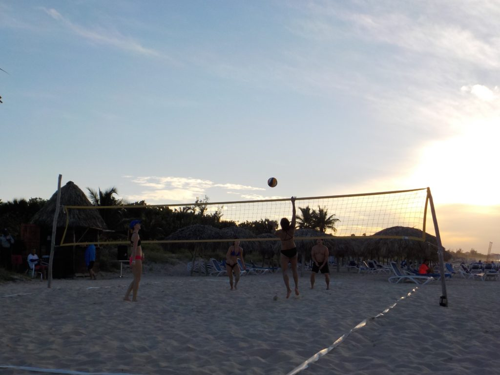 Beach Volleyball during Sunset in Varadero, Cuba