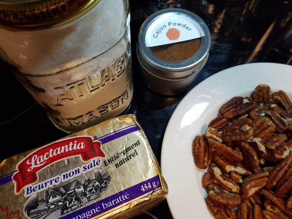 Ingredients for candied pecans