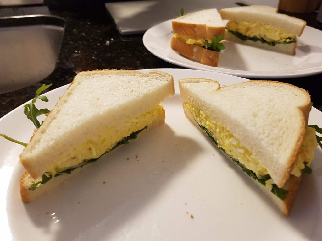 Slice the Egg Salad Sandwich in Haves
