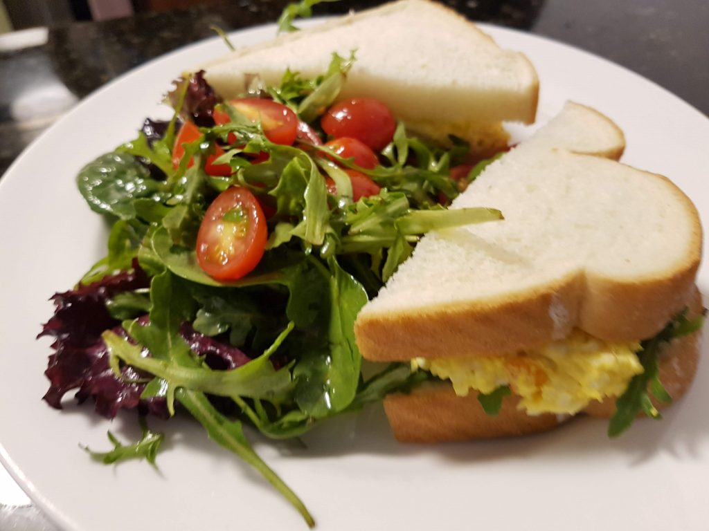Egg Salad with a Side Garden Salad
