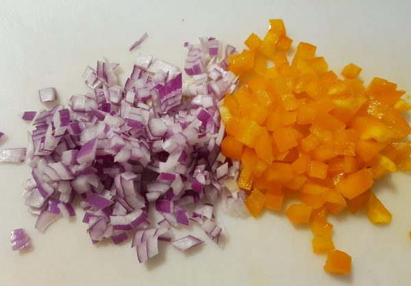 Red Onion and Orange Pepper
