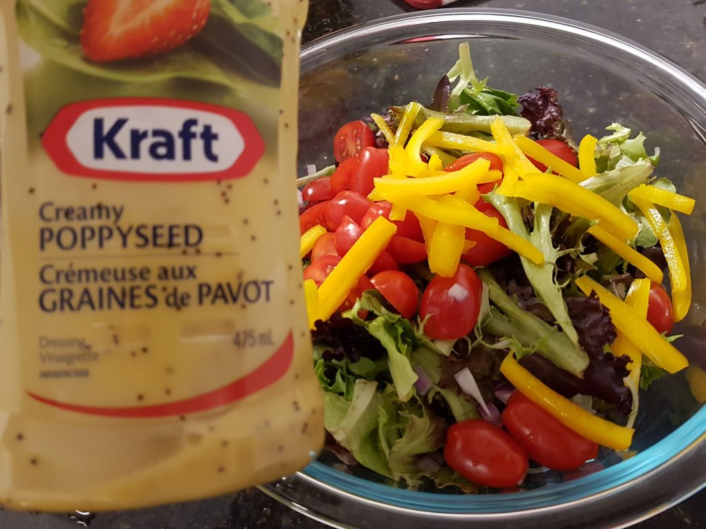 House Salad with Poppy Seed Salad Dressing
