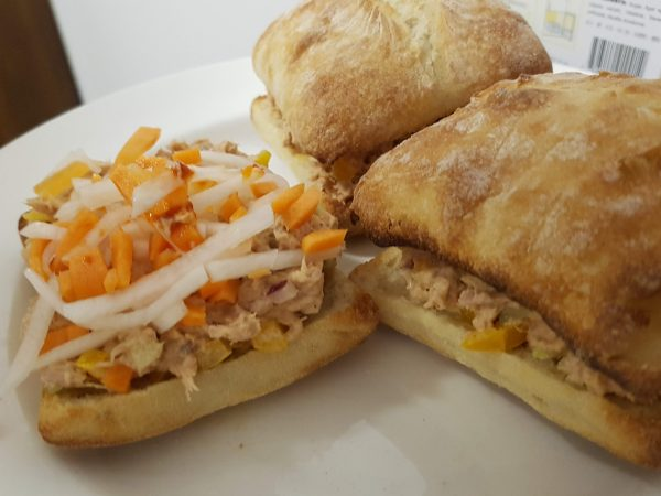 Tuna with Daikon and Carrots Pickled Sandwich