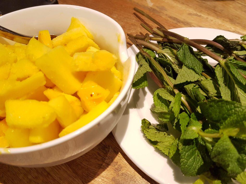 Mango and Mint Leaves