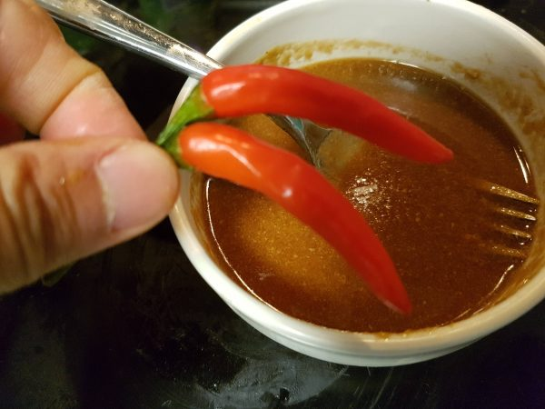 Peanut Dipping Sauce with 2 Chili Peppers