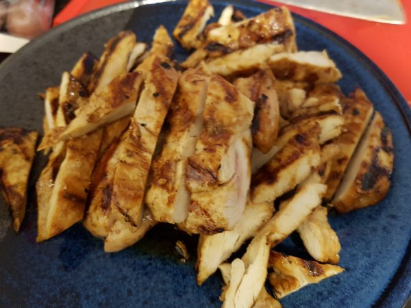 Grilled Chicken for the Fresh Rolls