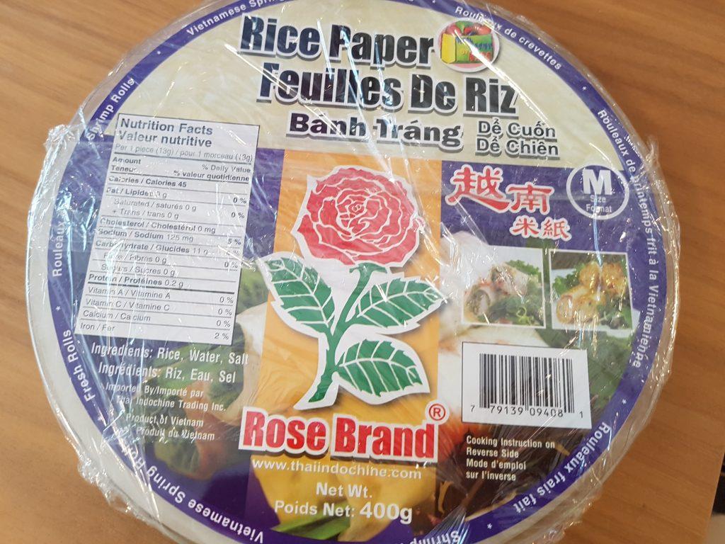Rice Paper in Plastic Wrap