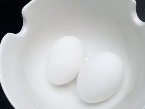 2 Large White Eggs