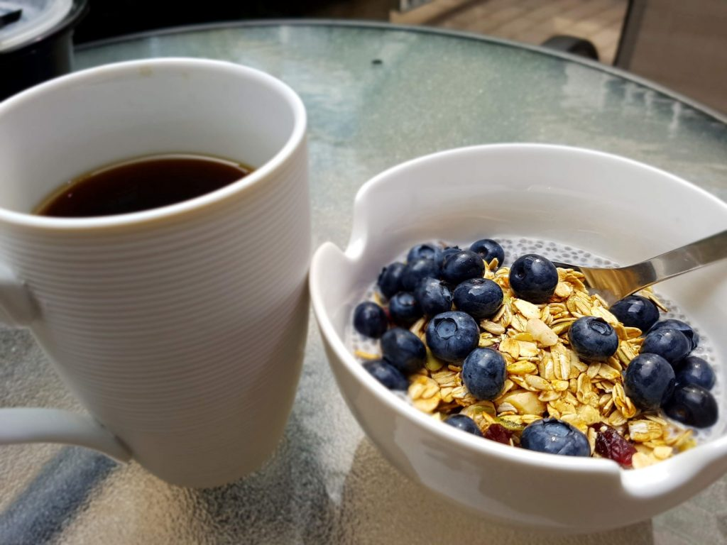 Berry Easy Chia Seed Pudding with Granola