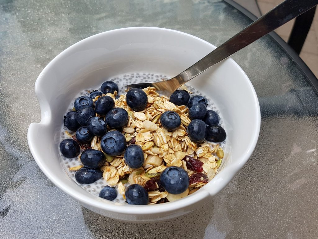 Berry Chia Seed Pudding with Granola