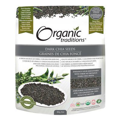 Dark Chia Seeds - Organic Traditions