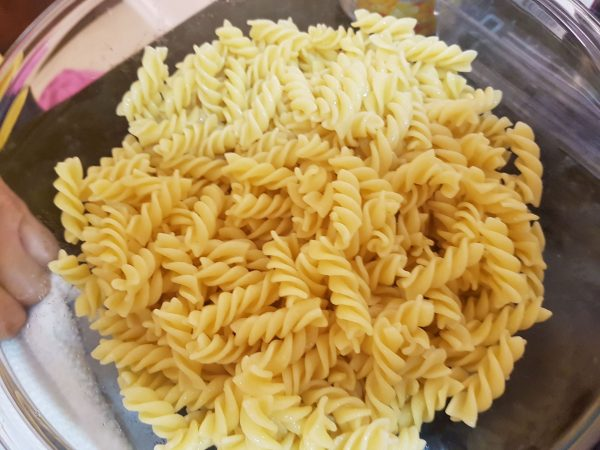 Rotini Pasta for the Grilled Sausage and Vegetable Pasta Salad