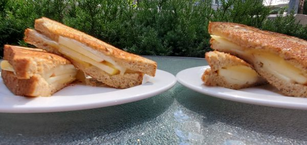 Simple Apple Grilled Cheese Sandwich