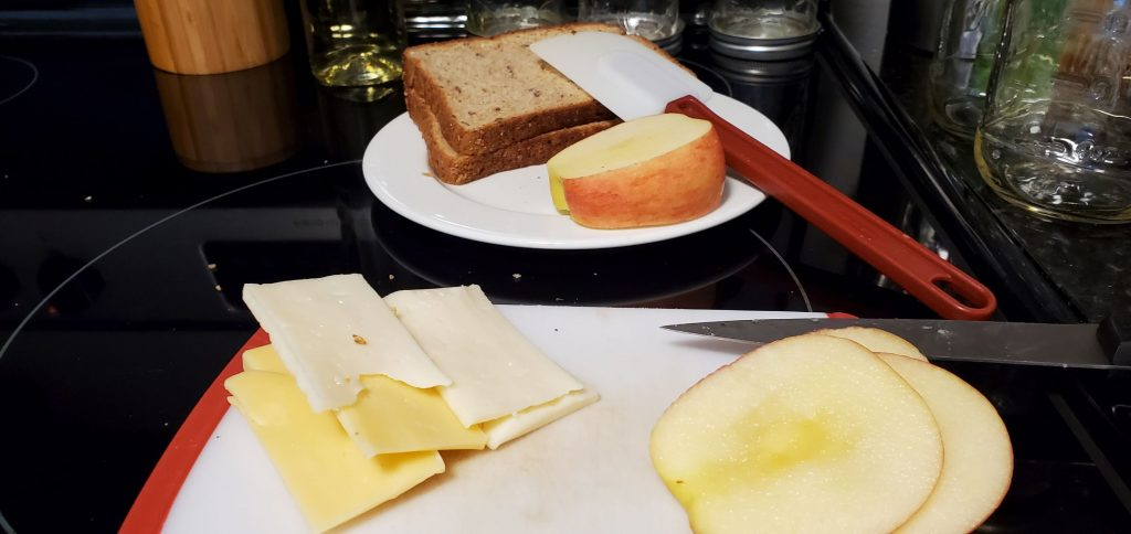 Ingredients for Simple Apple Grilled Cheese Sandwich