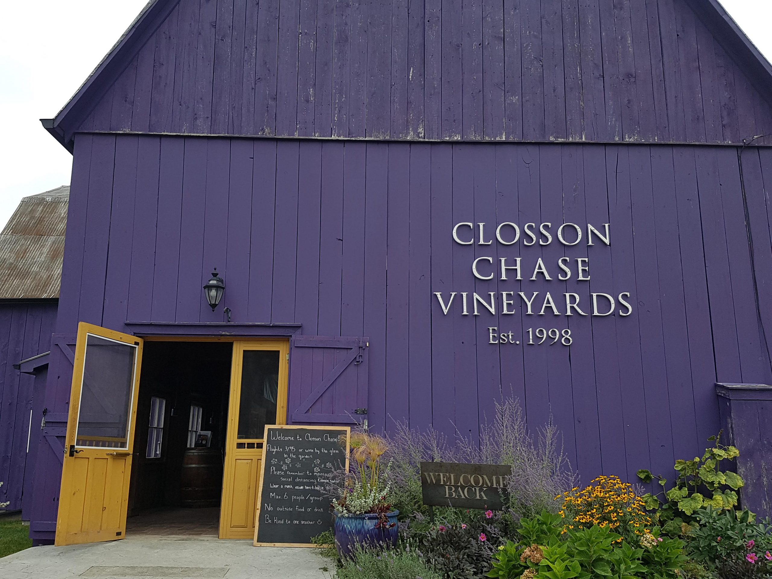 Closson Chase Vineyards - Wine Tour Guide