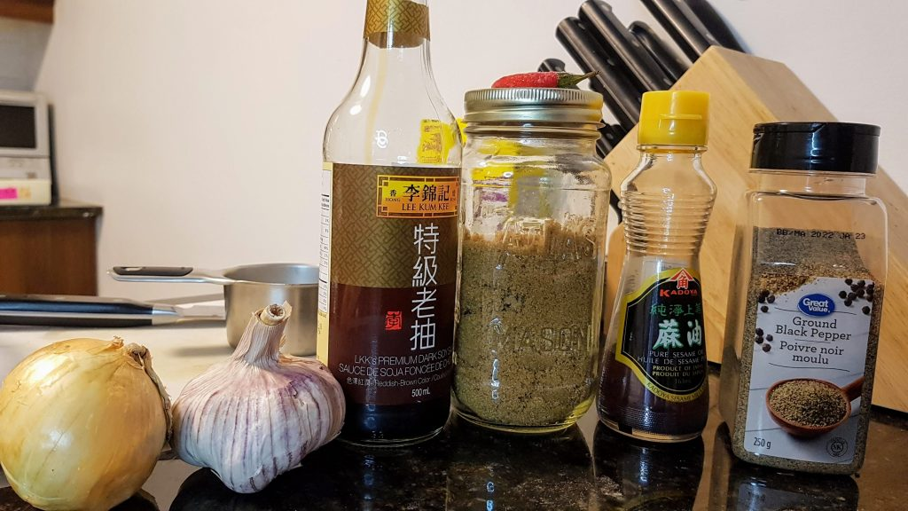 Ingredients for the Kalbi Marinade