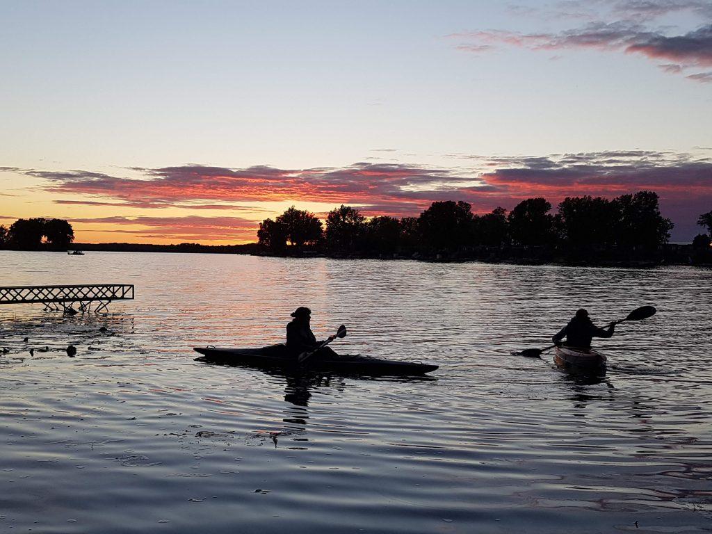 Kayaking in Sandbanks under the Sunset