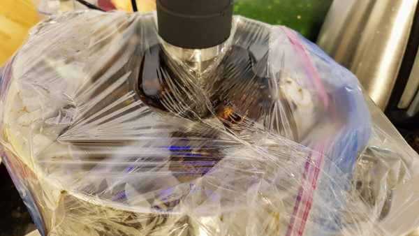 Sous Vide wrapped in saran wrap