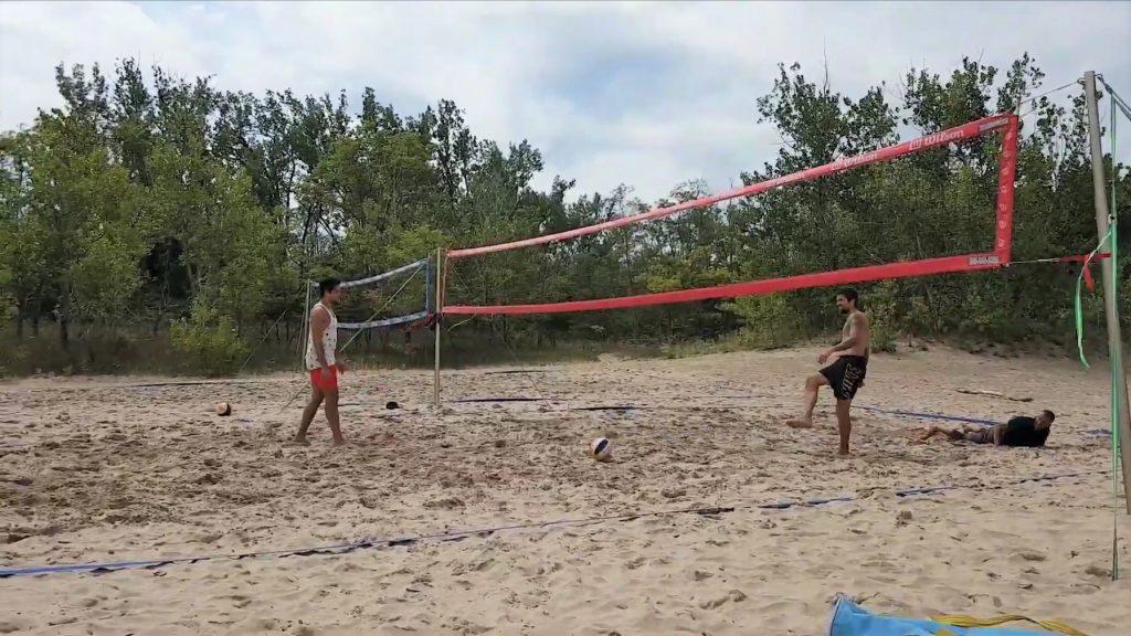 2 volleyball courts at Sandbanks
