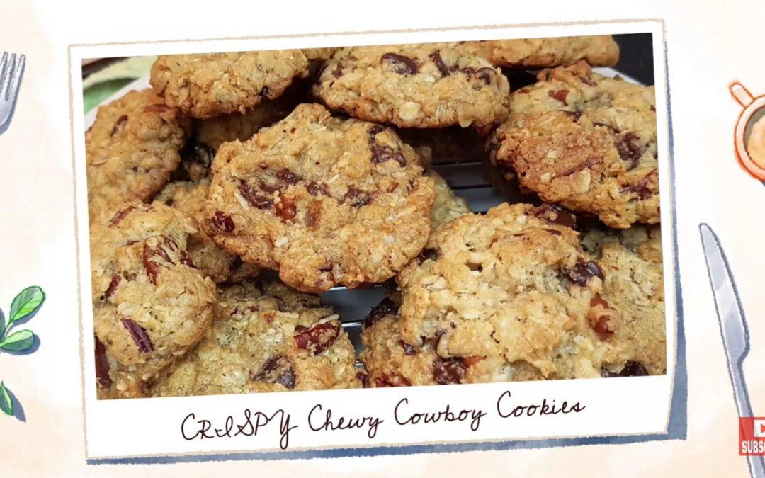 Crispy Chewy Cowboy Cookies Recipe