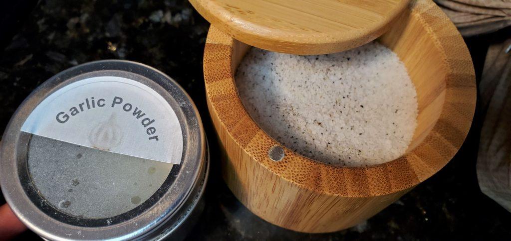Garlic Power and Salt/Pepper