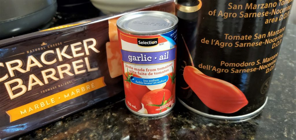 Canned Tomato paste and Whole Tomatoes
