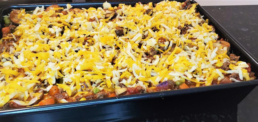 Last layer of lasagna