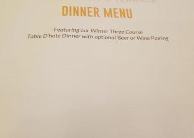 Eclipse Dinner Menu at Deerhurst Resort, Muskoka