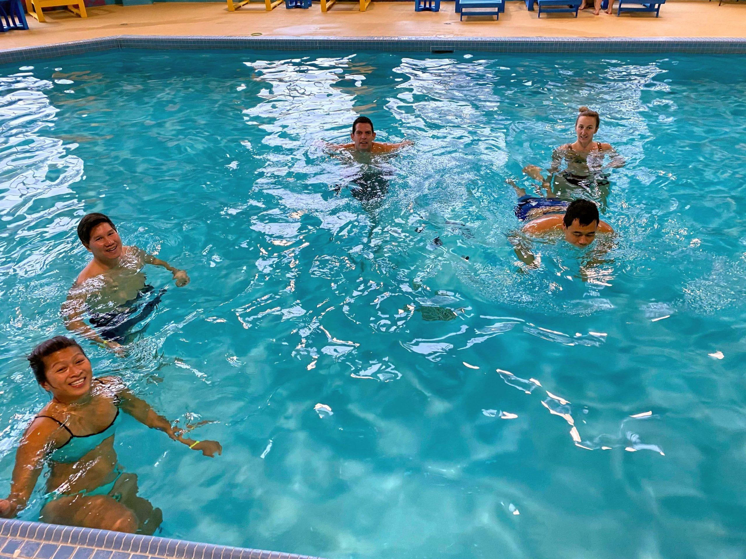 Swimming at Deerhurst Resort