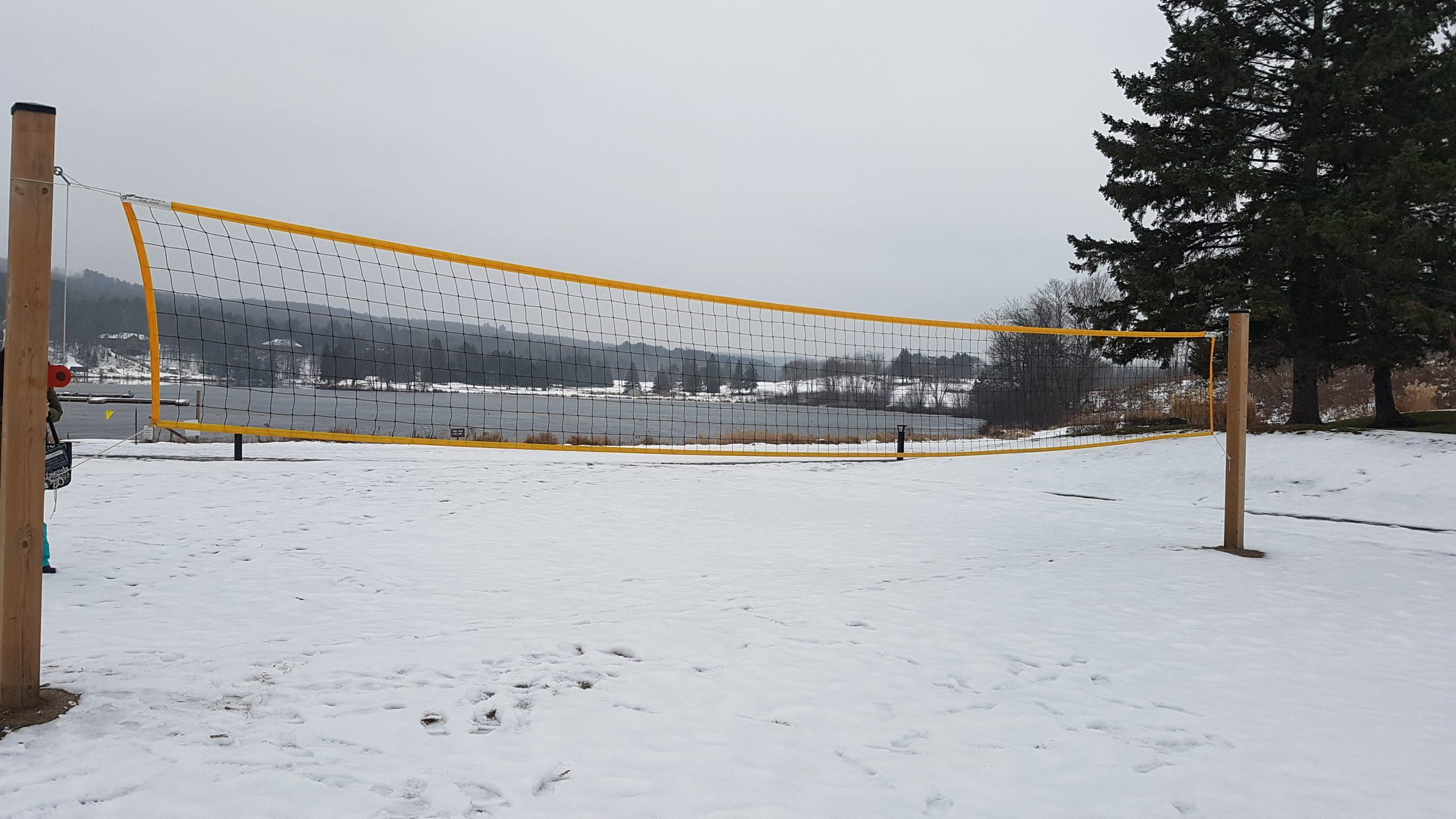 Volleyball Court while exploring Deerhurst Resort, Muskoka