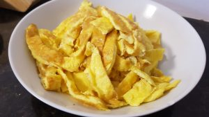 Yummy Japchae Recipe: Eggs Omlette Style