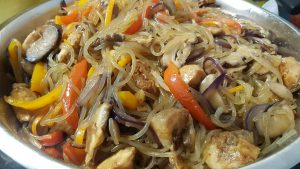 Yummy Japchae Recipe: combine everything