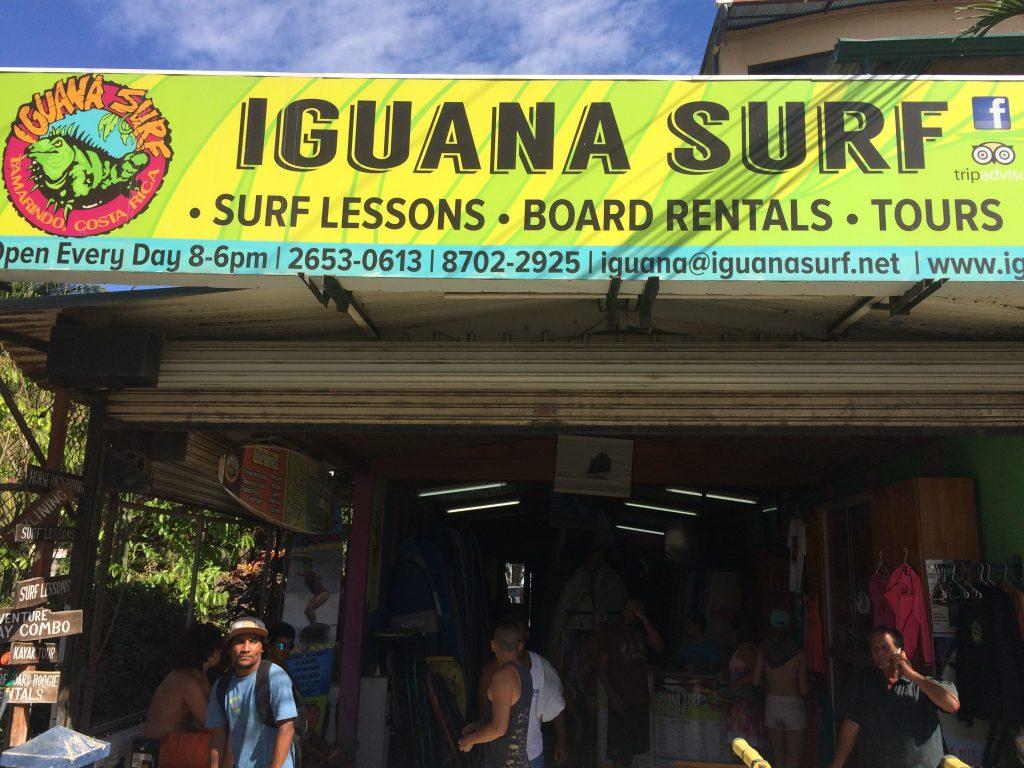 Iguana Surf in Tamarindo, Costa Rica