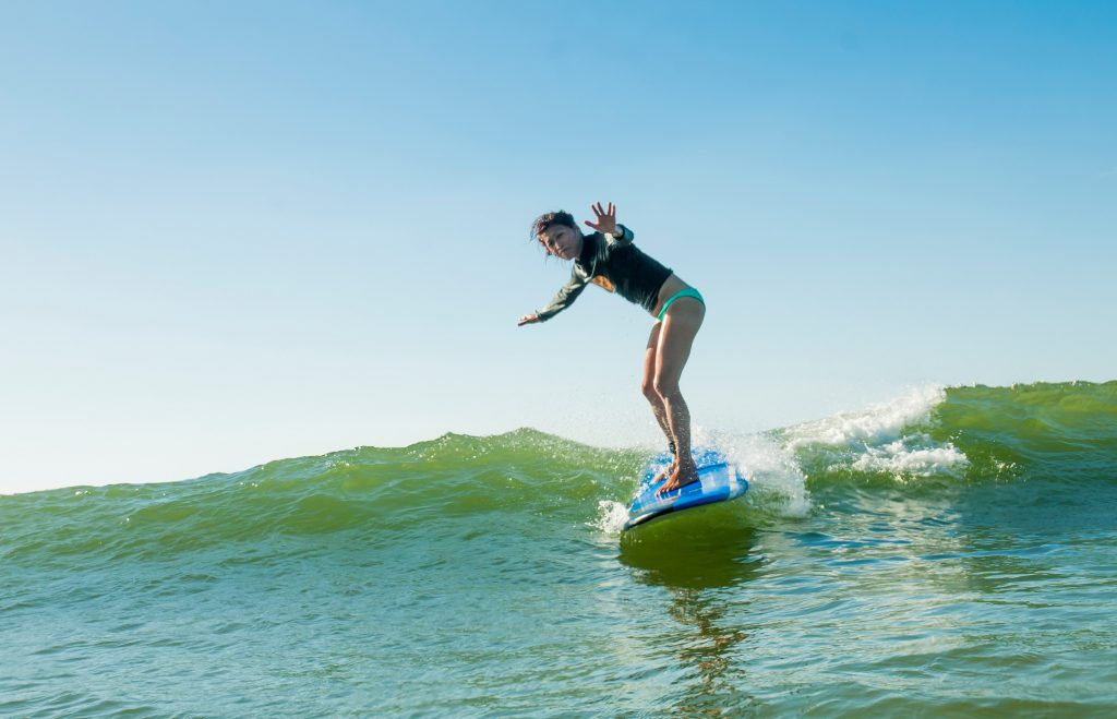 Surfing in Tamarindo, Costa Rica