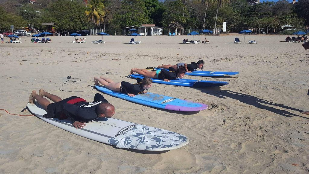 Surfing lesson from Iguana Surf in Tamarindo