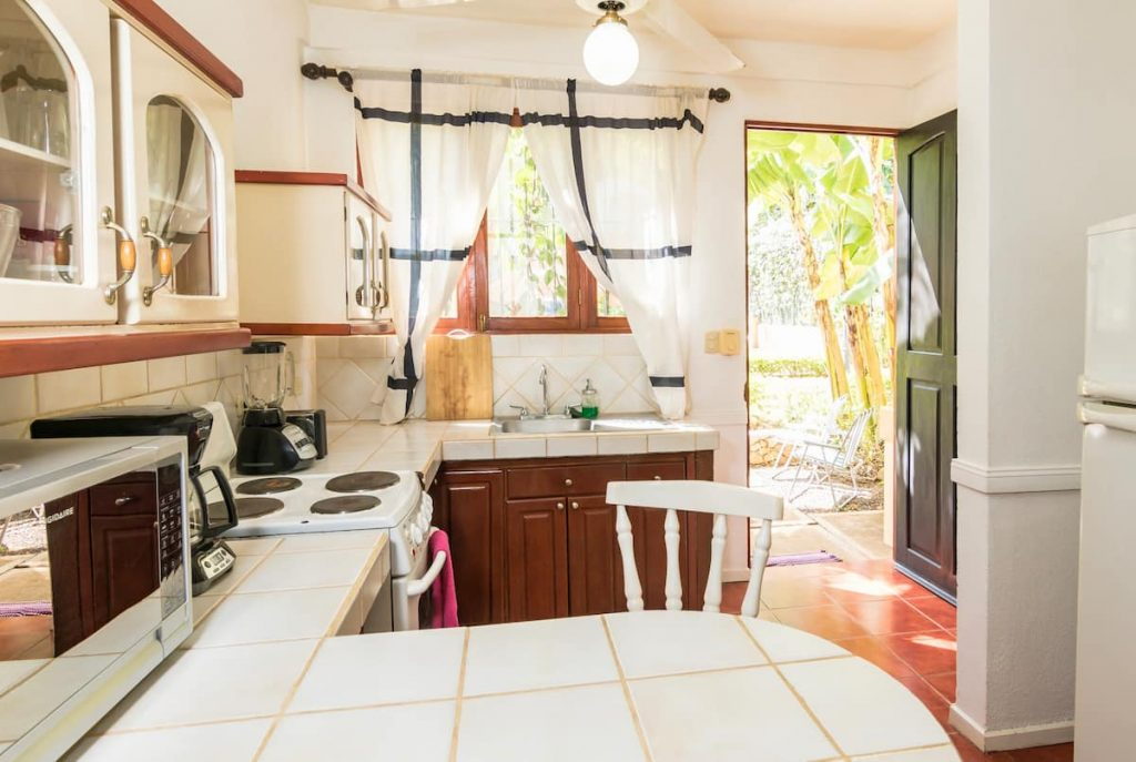 Kitchen at Sol Sunshine Airbnb in Tamarindo, Costa Rica