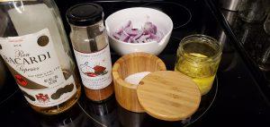 Shrimp Marinade ingredients for the Stir-Fry Shrimp Ramen